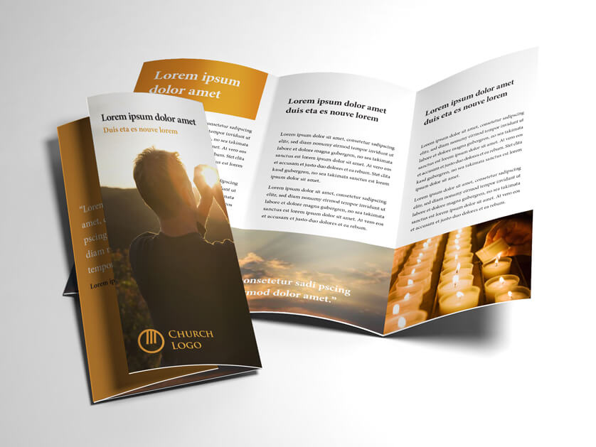 tri fold church bulletin template koni polycode co