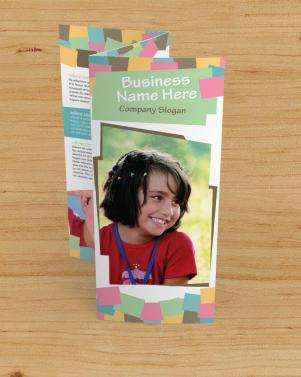 fun play school tri-fold brochure standing