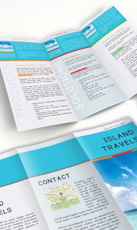 Indesign tri fold brochure template free download for Island brochure template