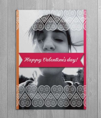 valentines day card flat