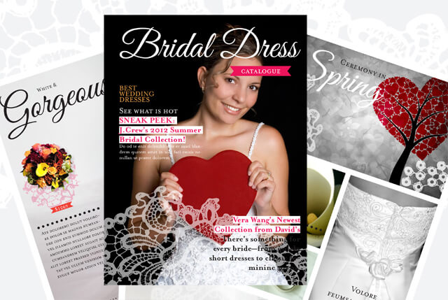 Free Wedding Dress Catalogue Template with 12 Pages