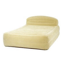 Smart Air Beds Queen Sized Premium Raised Inflatable Bed With Ultra Flocking And Headboard