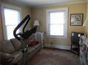older colonial in millburn_second bedroom_before staging