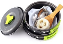 PIECE CAMPING COOKWARE MESS KIT