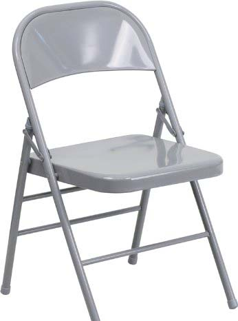 FLASH FURNITURE METAL FOLDING CHAIR