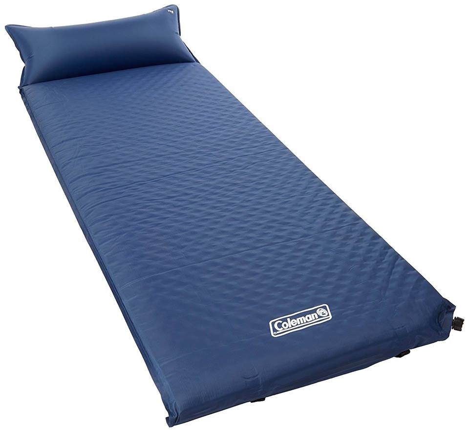 Coleman self-inflating camping foam pad with pillow
