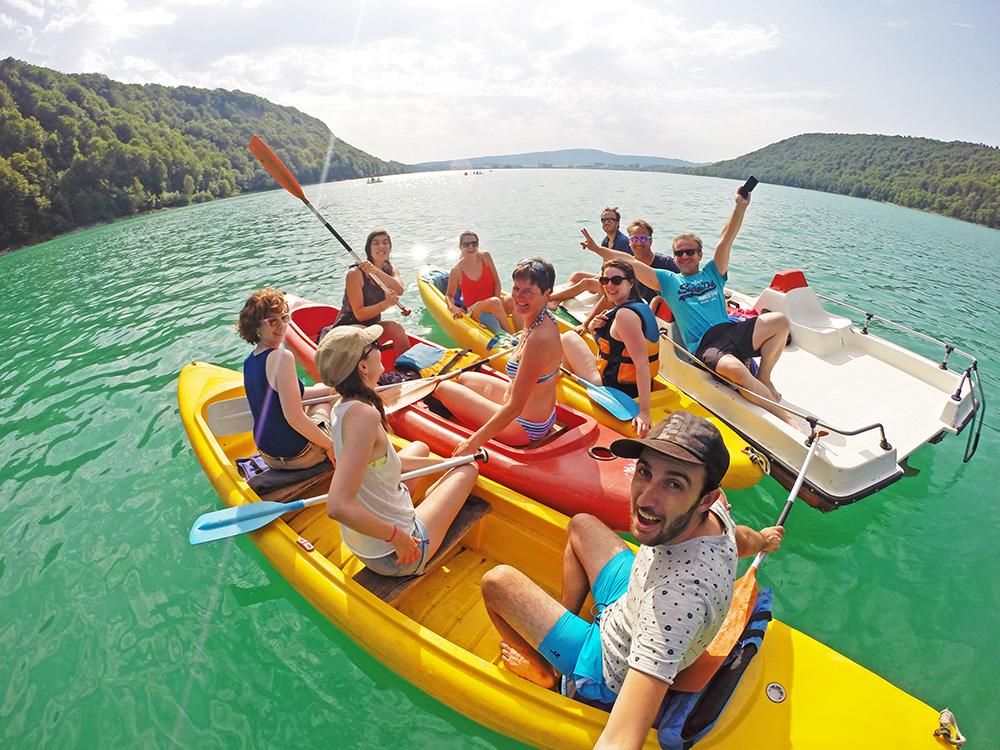 Canoe Lac de Chalain