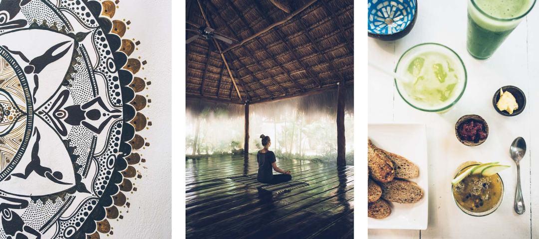 Cours de Yoga, Tulum, Mexique
