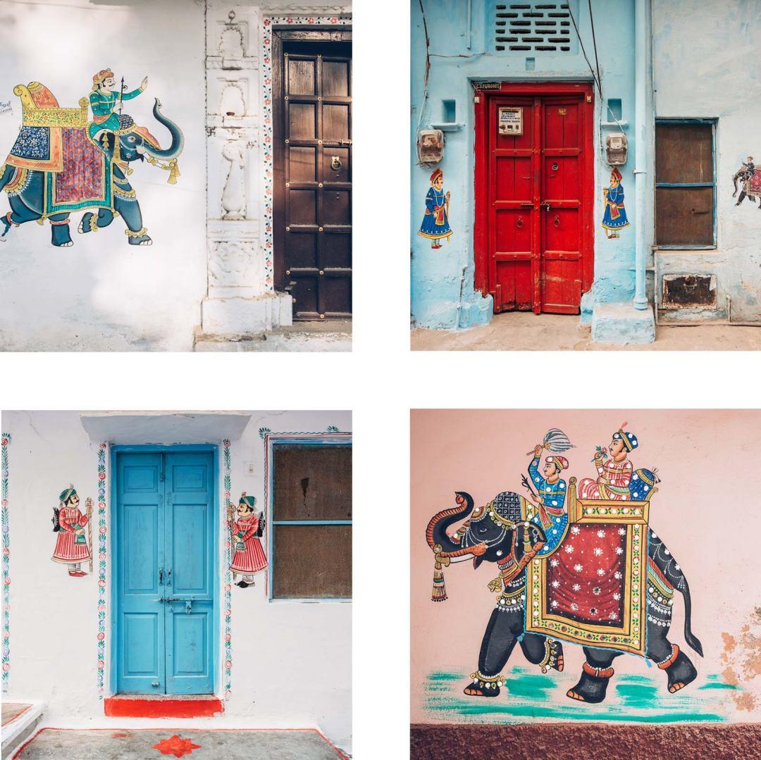 udaipur peinture dans les rues arty