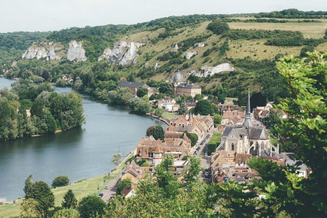 Vue depuis Château Gaillard, Les Andelys, Normandie