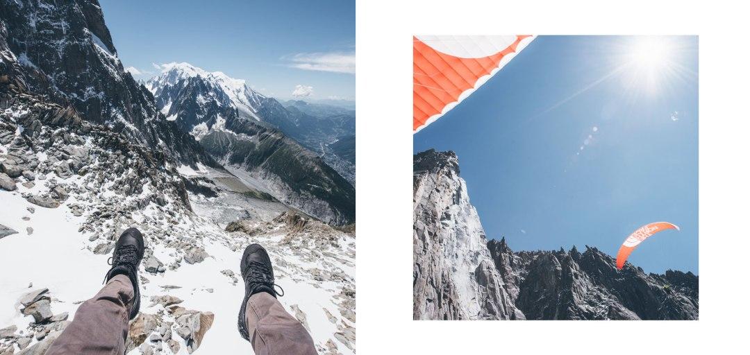 Parapente depuis les Grands Montets, Chamonix