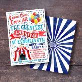 Circus uitnodiging