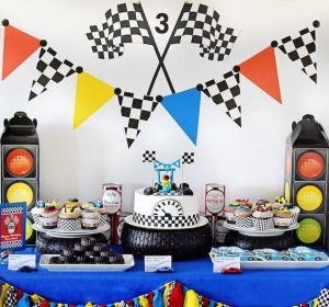 race decoratie tafel