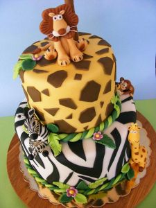 verjaardagstaart jungle