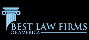 best law firm logo blue on black