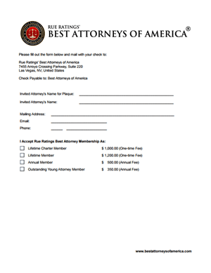 View/Print Membership Form