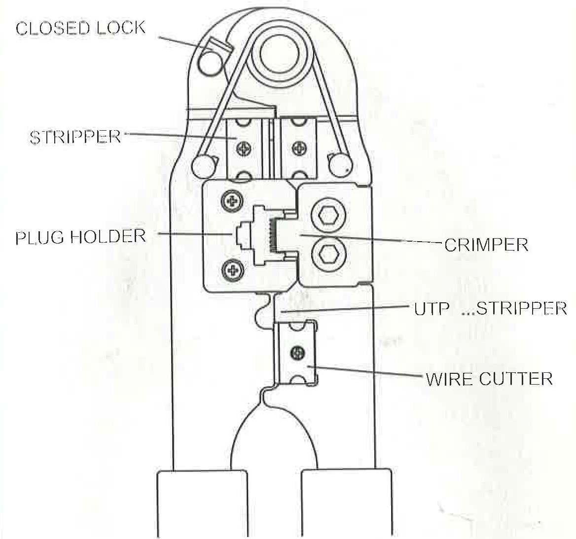 6p6c Rj12 6p4c Rj11 Modular Plug Crimp Tool