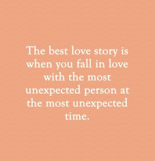 falling in love with the most unexpected person
