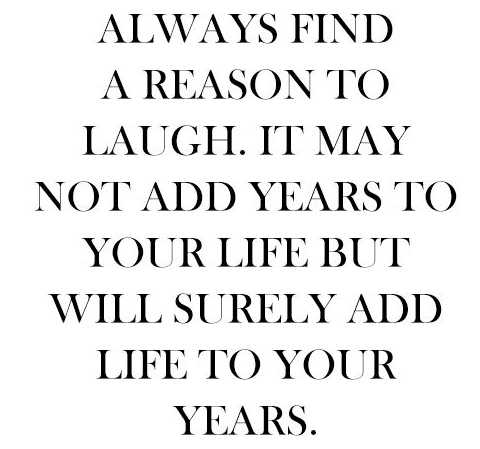 find a reason to laugh