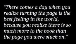 turning the page is the best feeling in the world