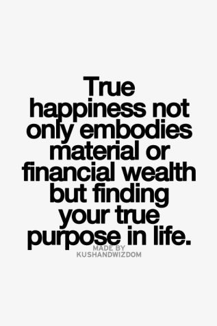 true happiness not only embodies material or financial wealth but finding your true purpose in life