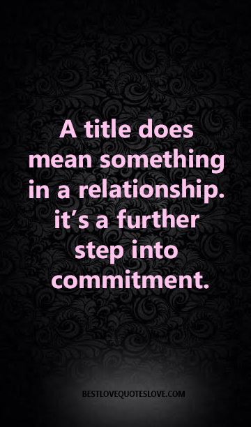 what does no commitment mean in a relationship