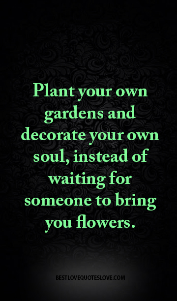 Best Love Quotes Plant Your Own Gardens And Decorate Your Own Soul