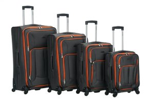 rockland luggage impact spinner 4 piece luggage set reviews