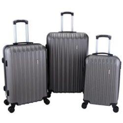 "BEST TRAVEL ABS Trolley Luggage Travel Set Bag Suitcase Black 16"" 20"" 24"" 28"""