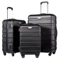 Coolife Luggage 3 Piece Set Suitcase Spinner Hardshell