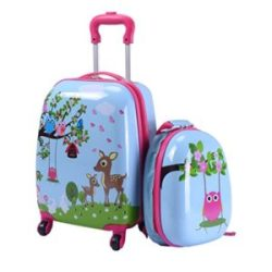 "Goplus 2Pc 12"" 16"" Kids Upright Hard Side Carry On Luggage Set"
