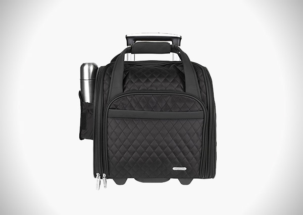 Travelon Wheeled Underseat Carry-On with Back-Up Bag