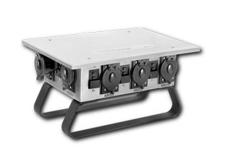 Temporary Power Distribution Classic Box GFIC Stainless Steel