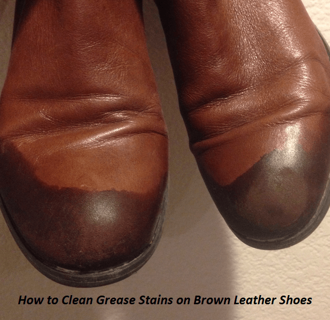 Cover the remaining grease stain completely with a generous amount of corn starch or white talcum powder, which will usually absorb the grease. Allow the leather to set for 10 to 12 hours, then brush the powder from the leather.