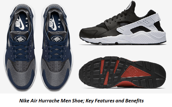 Nike Air Hurrache Men Shoe; Key Features and Benefits