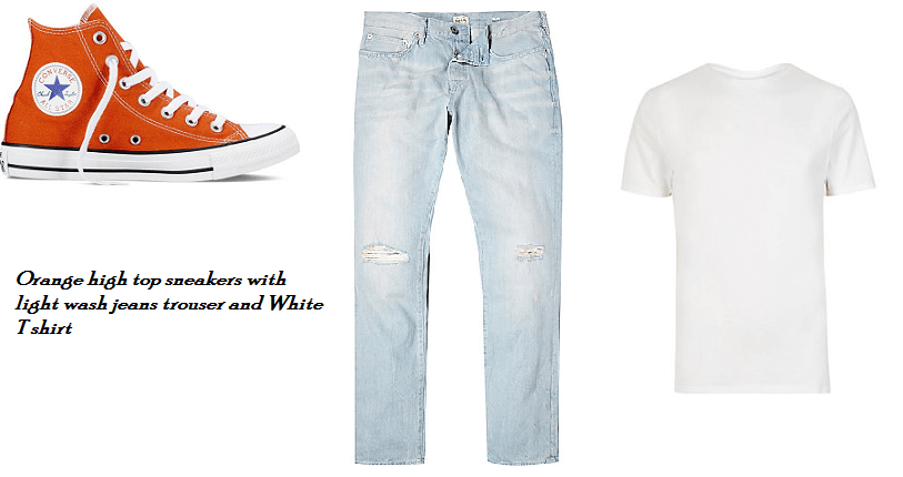 How to wear Orange Shoes; Men's Style Guide