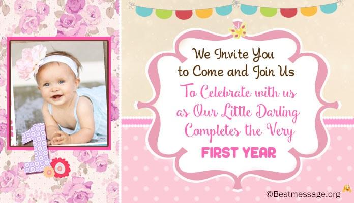 Cute 1st Birthday Invitation Wordings Ideas Kids