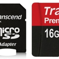 Transcend 16 GB micro SDHC card