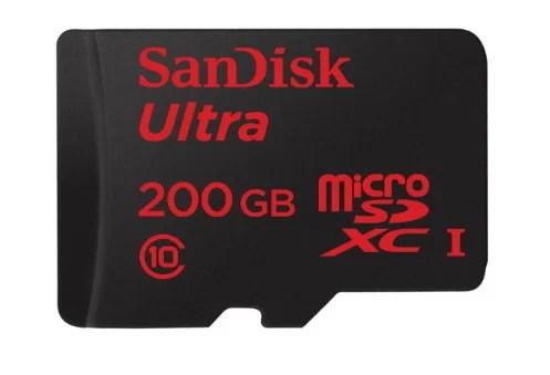 Sandisk Ultra 200GB MicroSDXC card