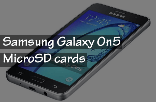 Samsung Galaxy On5 Memory cards