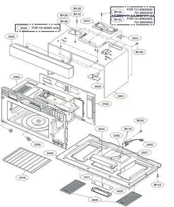 kenmore microwave parts diagram