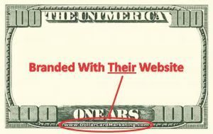 Branded With Their Website