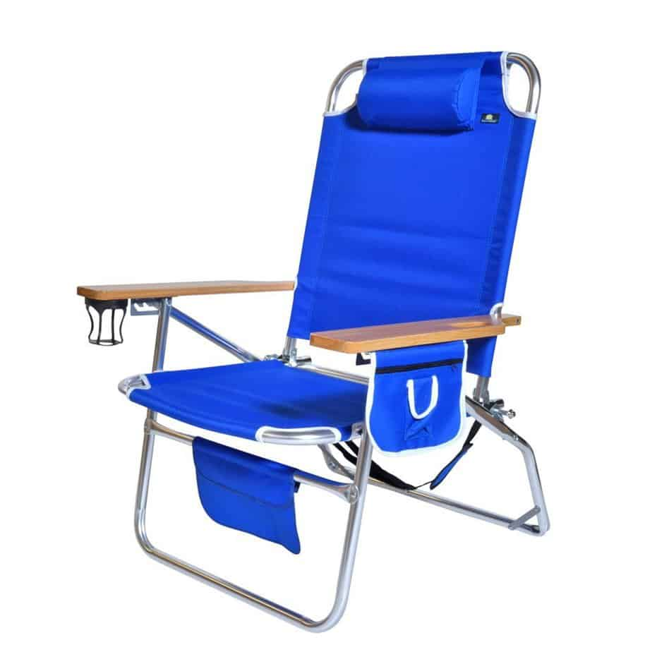 18 Inches High Seat Big Tycoon Aluminum Beach Chair