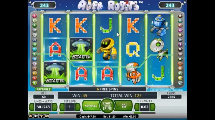 Feb 18, · Alien Robots is a 5 reel, 3 row, video slot from developer NetEnt.The game has Wild symbols that substitute for all except Scatter, and that turn into Sticky Wilds during Free Spins.Sticky Wilds that you get will expand and hold position on the reels during each Free Spin.5/5.Muş