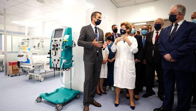 Μονάδα 50 νέων κλινών ΜΕΘ εγκαινίασε ο πρωθυπουργός στο «Σωτηρία»