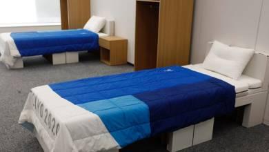 κρεβάτια χαρτόνι ολυμπιακό χωριό