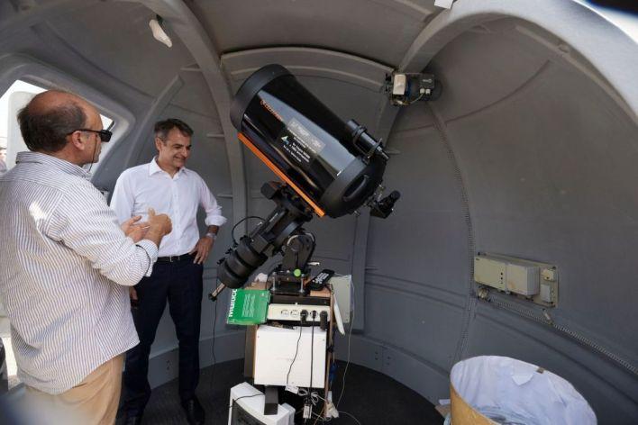 σχολείο με αστρονομικό παρατηρητήριο που επισκέφθηκε ο Πρωθυπουργός