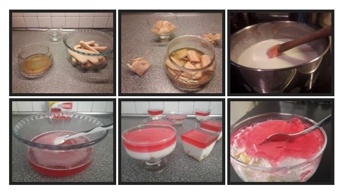 Πανακότα με μπισκότα σαβαγιάρ και ζελέ