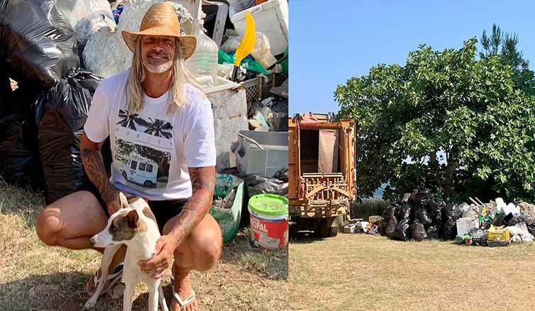 τουρίστας Χαλκιδική σκουπίδια