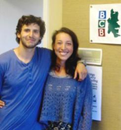 Farm interns Ruven Stein and Li Schmidt